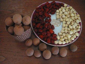 longan, lotus seeds, dates