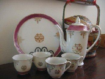 chinese wedding tea set