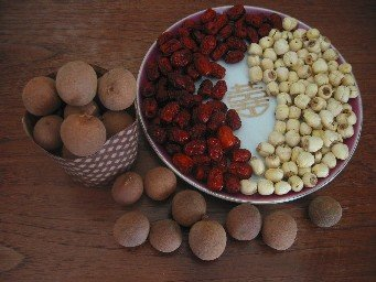 longan, lotus seeds, dates